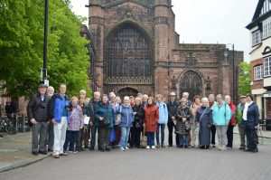 Group outside Chester Cathedral