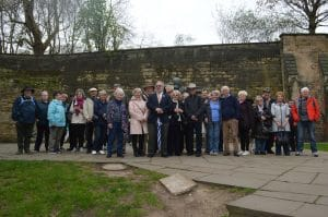 Group with Guide, Ian Jelf, at Nottingham Castle